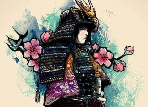 Samuraj och blommor