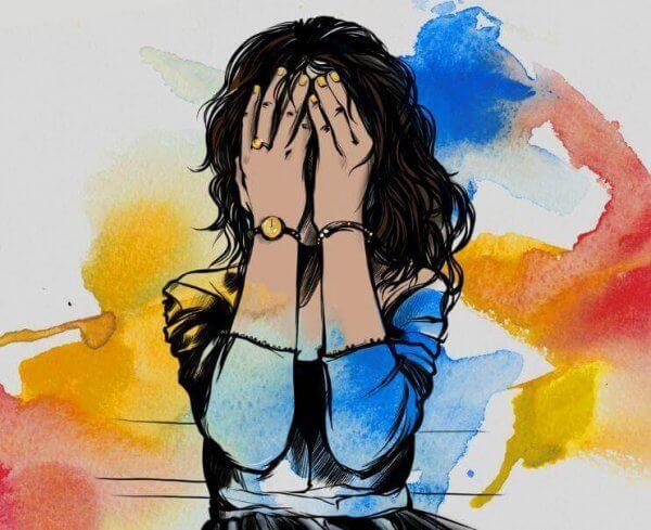 Depressionsdrabbad kvinna