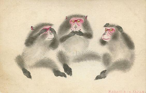 Lärdomen från de tre visa aporna vid Toshogu