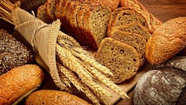 Livsmedel med gluten