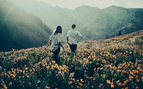 Par på fält