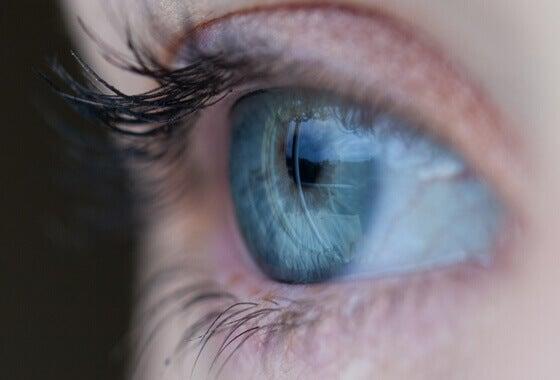 Ett blågrönt öga