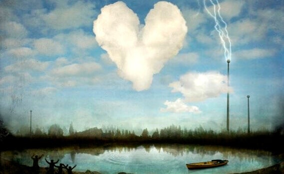 Hjärta som moln