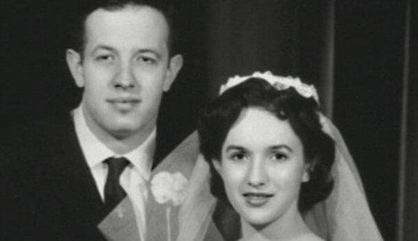 John med sin fru