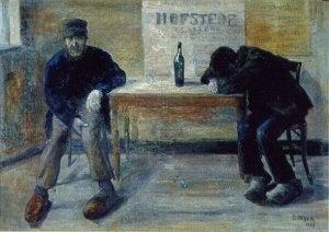 Målning av män som dricker