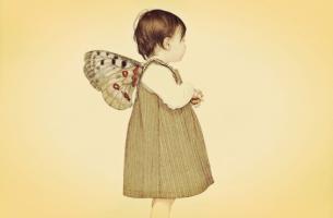 Barn med vingar