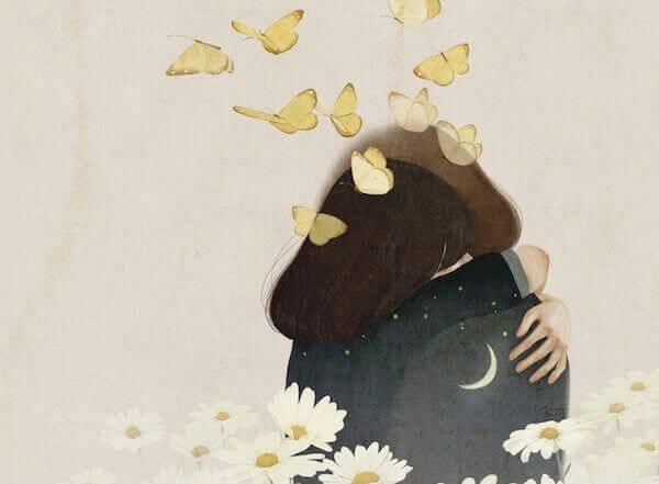 Kram med fjärilar