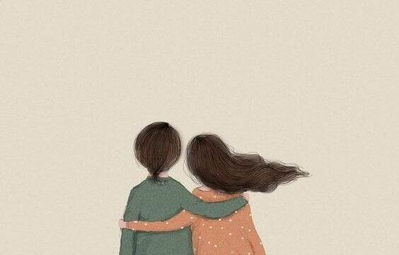 Par som håller om varandra