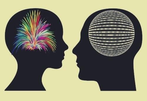 Två huvuden mot varandra