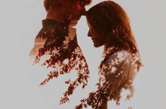 Man och kvinna i profil