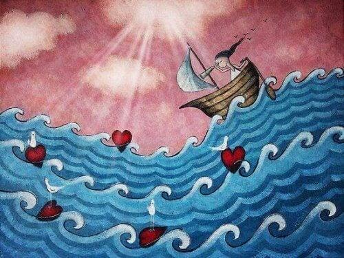 Seglar på kärlekens hav