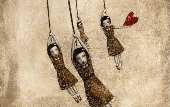 Flickor med hjärta