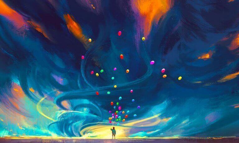 Himmel med färger