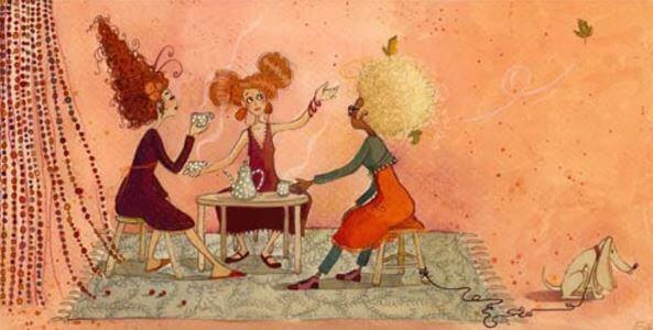 Kvinnor som samtalar