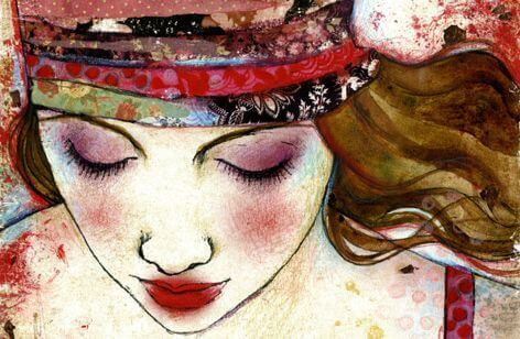 Målning av kvinna