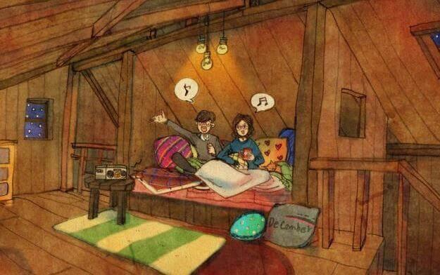 Par på loftet