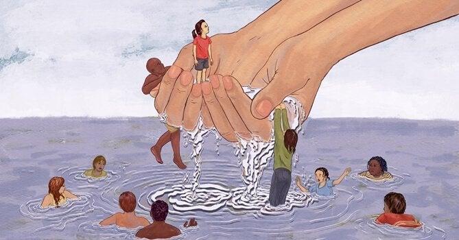 Räddar personer som drunknar