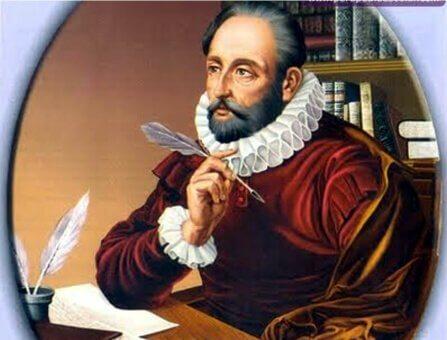 Cervantes som funderar