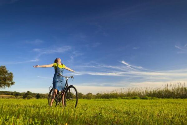 Cykeltur i naturen