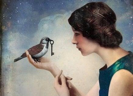 Fågel med nyckel