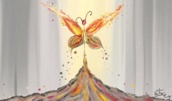 Fjäril växer fram