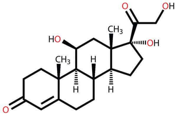 Kortisol som kemisk formel