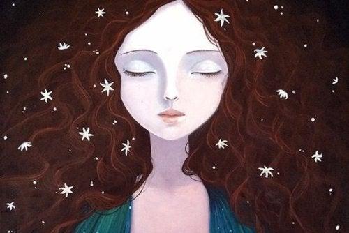 Kvinna bland stjärnor