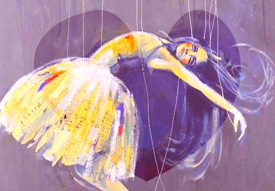 Kvinna som marionett