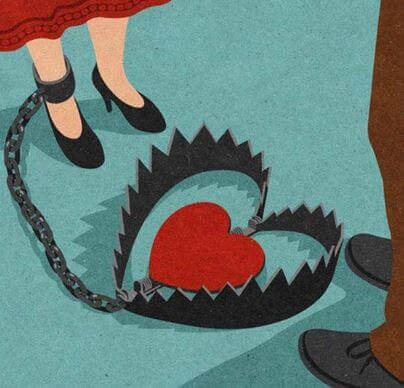Hjärta i fälla