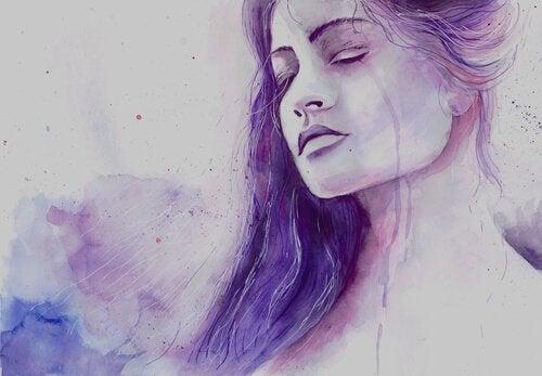 Kvinna som gråter