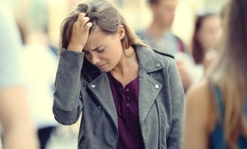 Ångestdrabbad kvinna