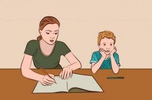 Att hjälpa barn med läxor