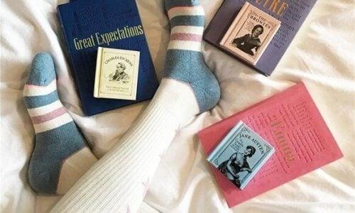Böcker i sängen