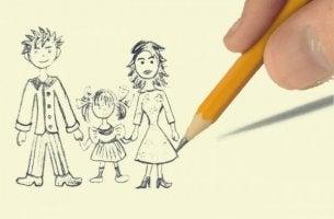 Familjeteckning för terapi