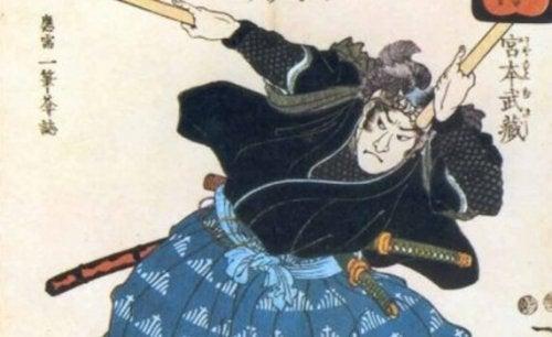 Målning av samuraj
