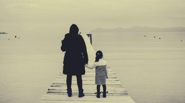 Mamma med dotter