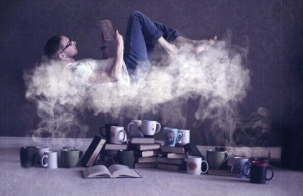 Man läser på ångmoln