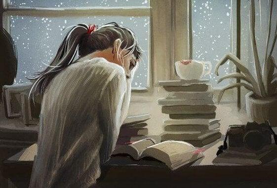 Studerande kvinna