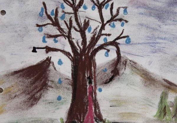 Teckning av träd