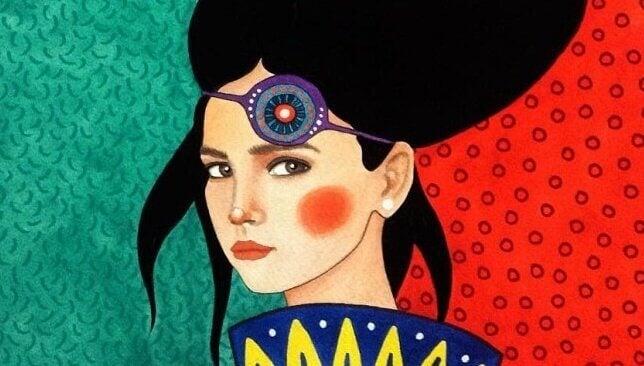 Kvinna med hårband