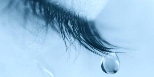 öga som gråter