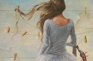 tänkande kvinna