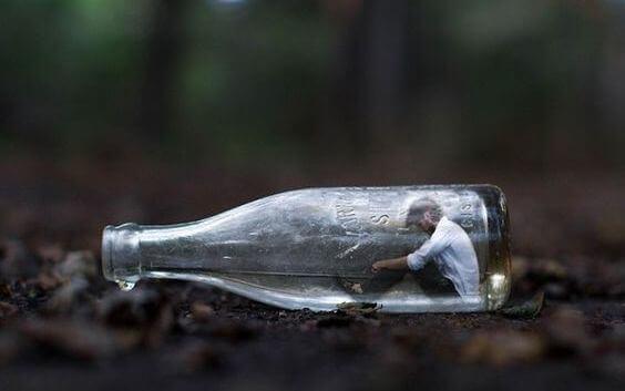 Person i flaska
