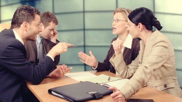 Personer på möte