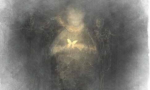 Pojke med fjäril