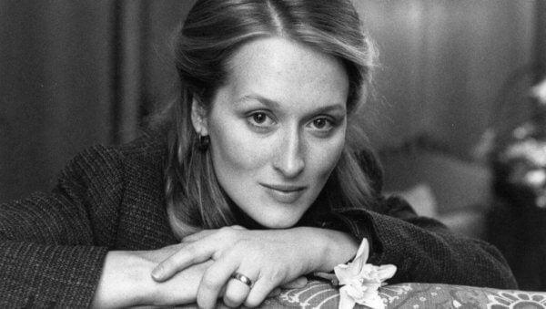 Poserande Meryl Streep