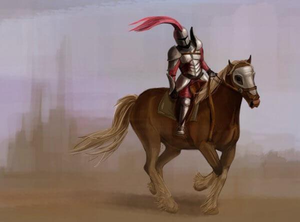 Riddare på häst