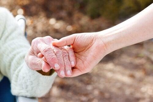 Ung och äldre person