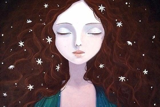 Kvinna i ensamhet
