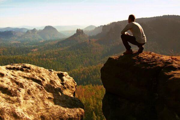 Man blickar mot horisonten
